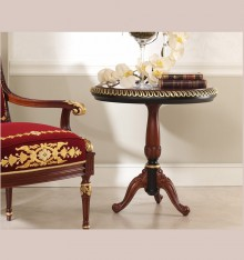 TN 4099/32 PEDESTAL TABLE WOODEN TOP COL. CANDLE
