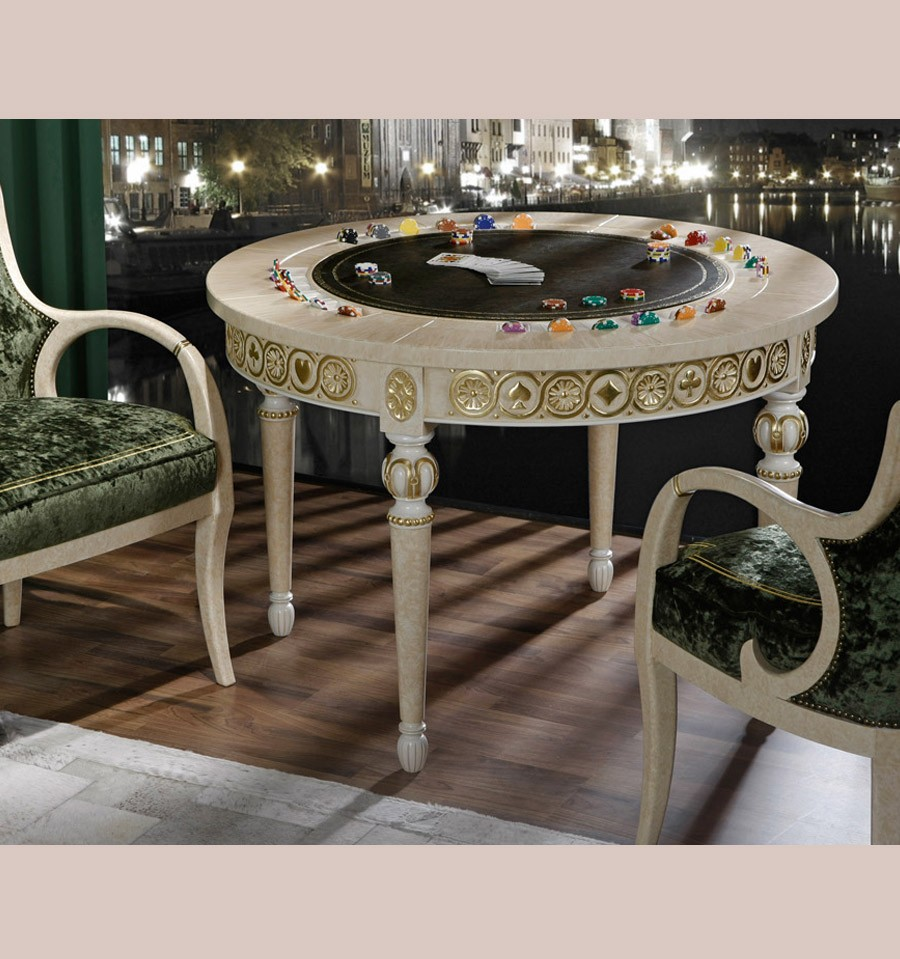 4593 ROUND GAME TABLE COL CANDLE